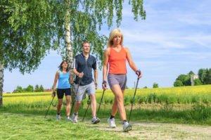 abnehmen nordic walking