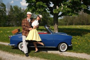 Kleid Stil 50er