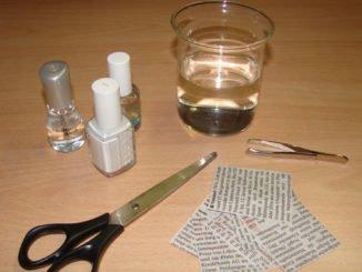 Nägel mit Zietung gestalten