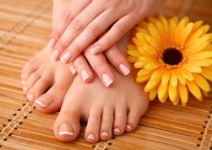 French Nails Füße
