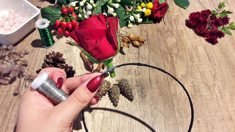 Blumen-Haarreif Rosen