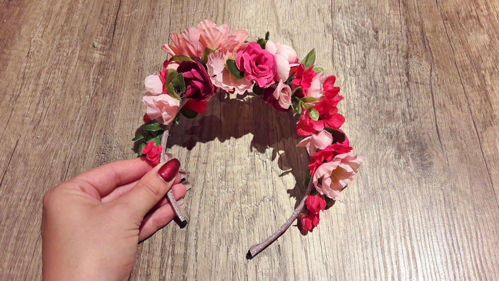 Blumen-Haarreif fertig