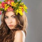 Blumen-Haarreif in gelb