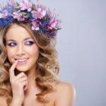 Blumen-Haarreif in lila