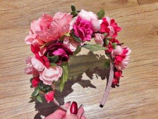 Blumen-Haarreif selber machen