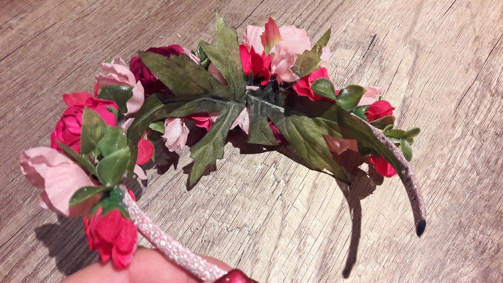 Blumen-Haarreif Unterseite