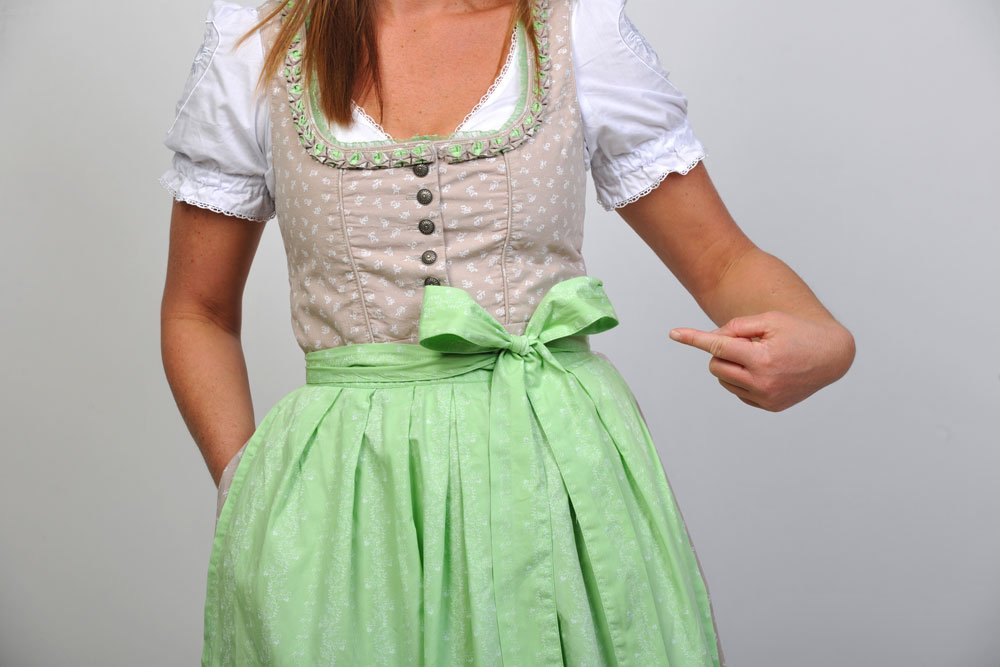 Dirndl Schleife links