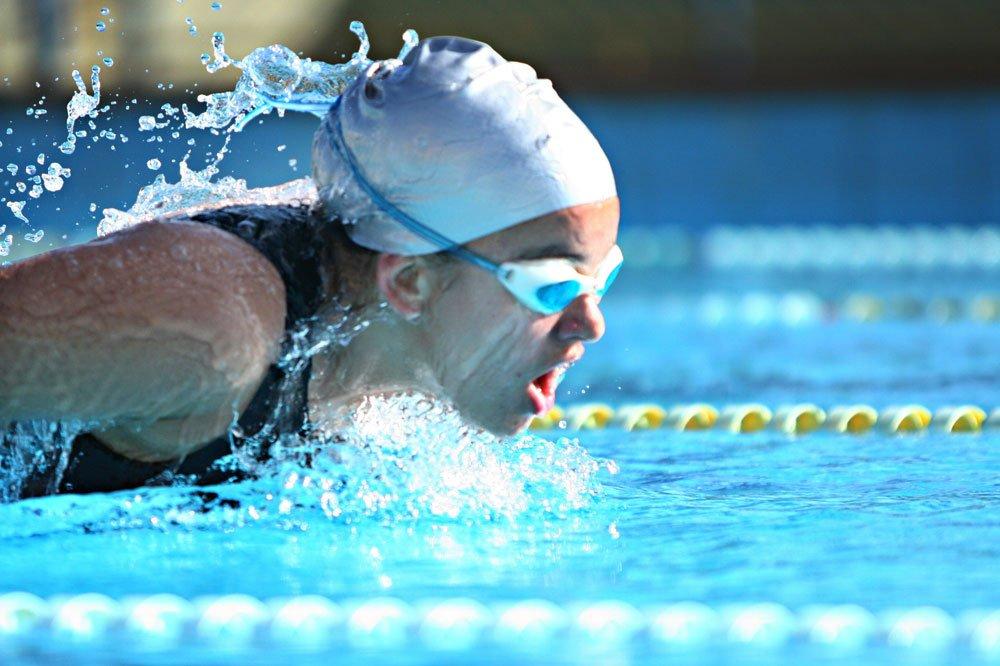 Schwimmen im Sommer