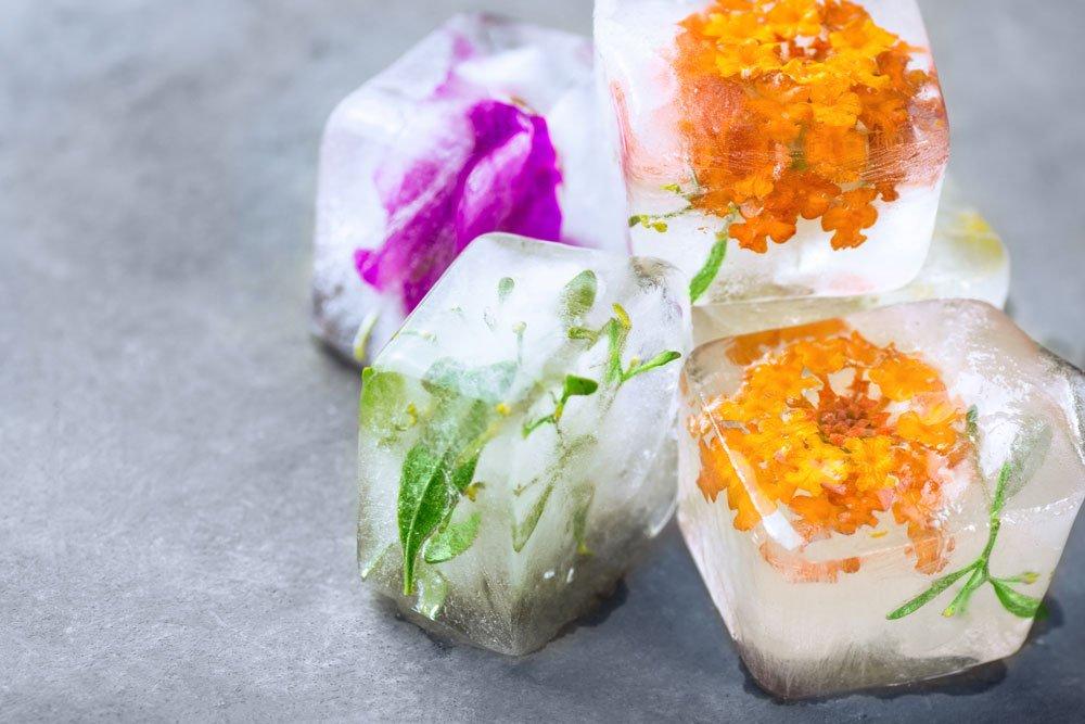 Beauty Cubes mit Kräutern und Blumen