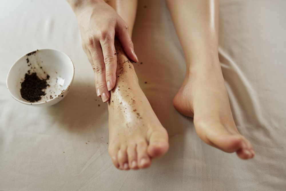Fußpeeling mit Kaffee