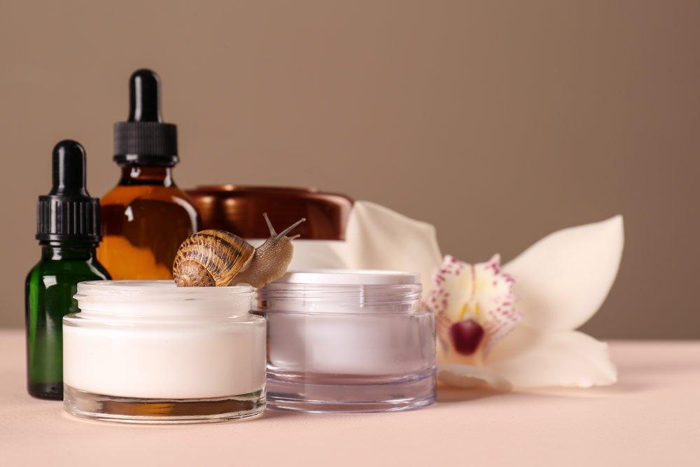 Kosmetikprodukte mit Schneckenschleim