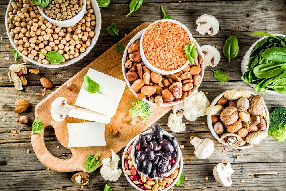 Lebensmittel mit pflanzlichen Proteinen