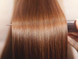 Braune Haare mit Rotstich