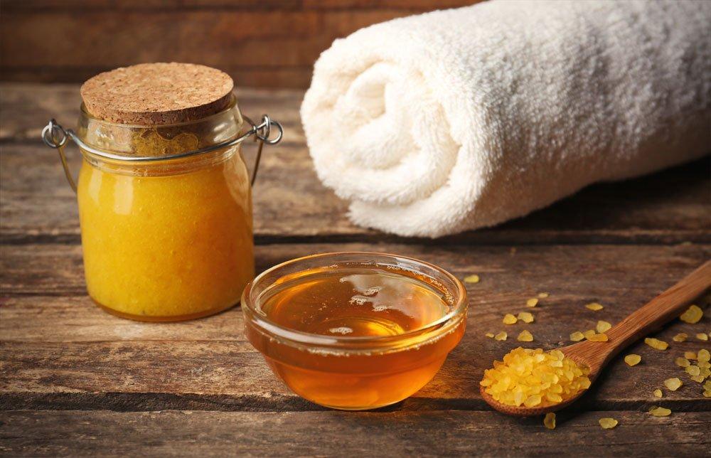 Fußpflege mit Honig