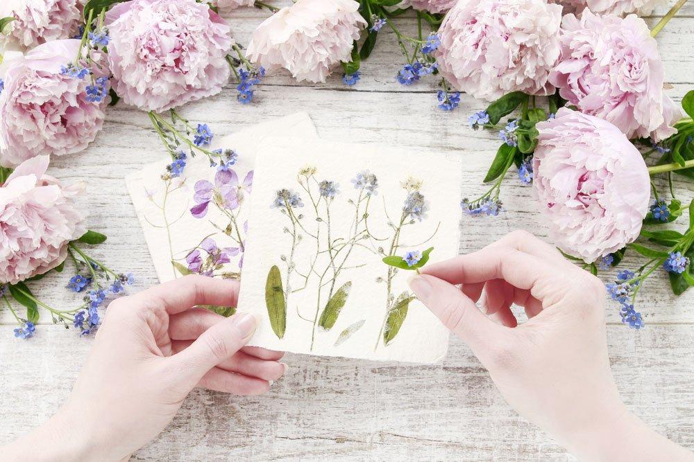 Blumen trocknen für Flower-Nails