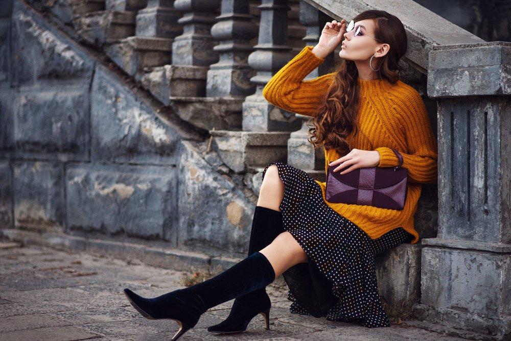 Schuhe für schlanke Beine: Sock Boots