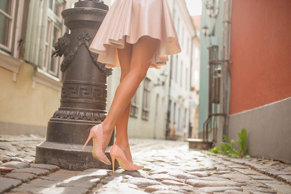 Schuhe für schlanke Beine